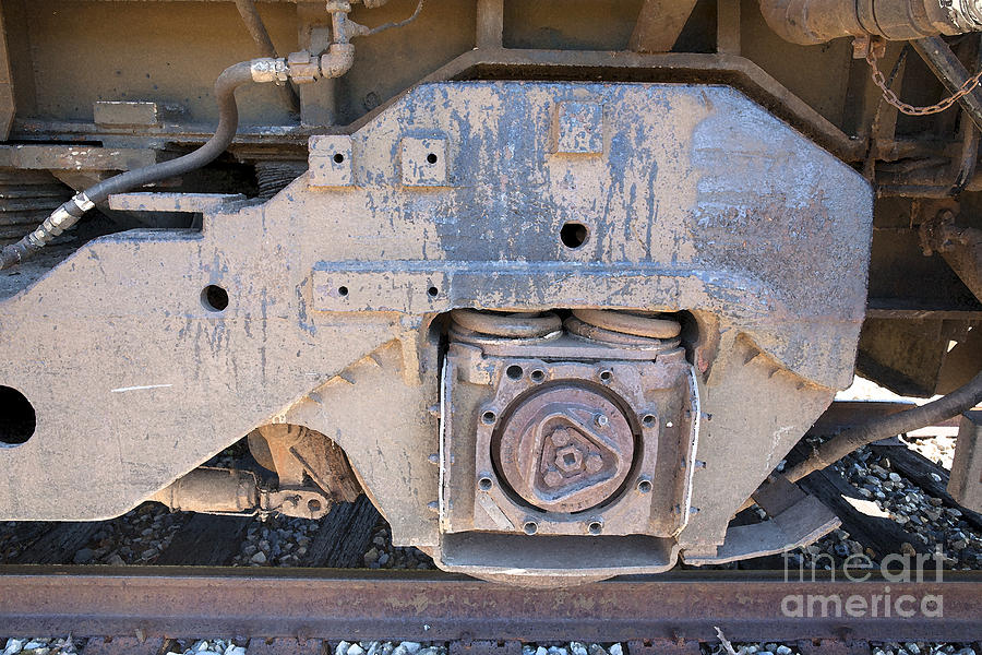 Train Photograph - Train Wheel by Russell Christie