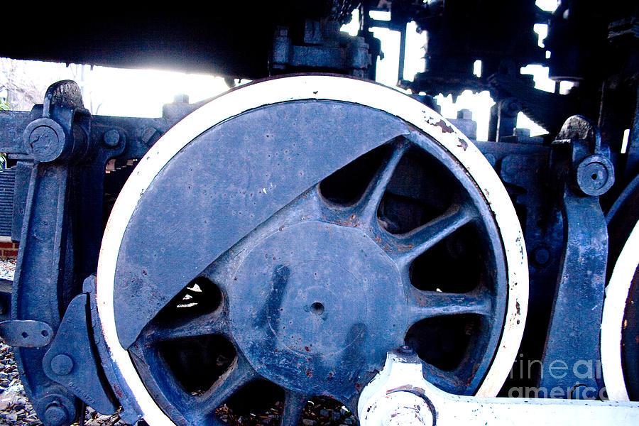 Train Photograph - Train Wheel by Thomas Marchessault