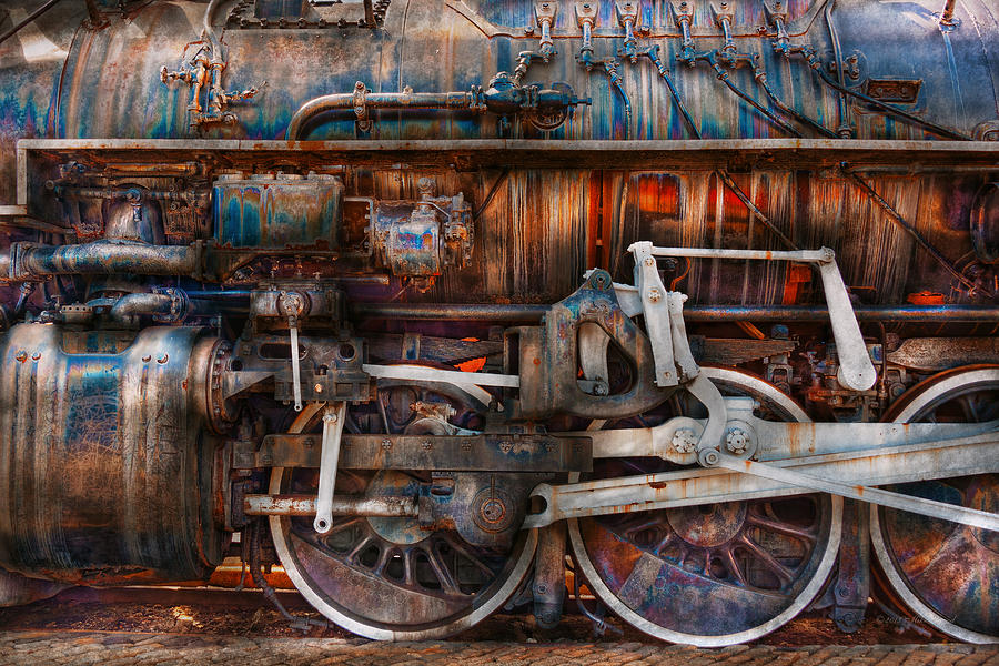 Savad Photograph - Train - With Age Comes Beauty  by Mike Savad
