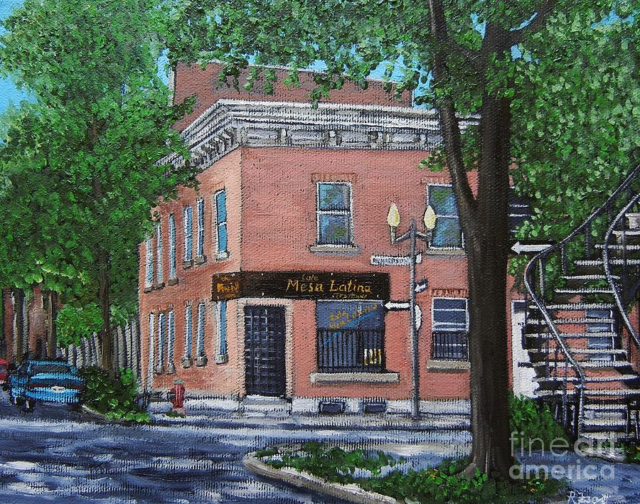 Urban Scenes Painting - Traiteur Mesa Latina  by Reb Frost
