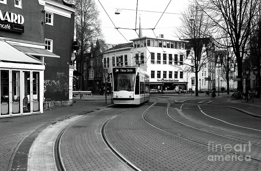 Europe Photograph - Tram Is A Coming by John Rizzuto