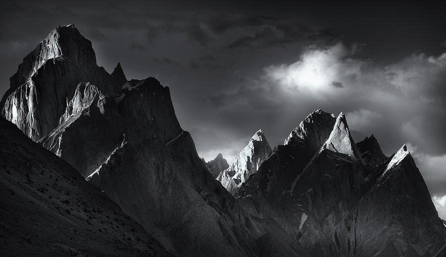 Summit Photograph - Trango Towers by Fei Shi