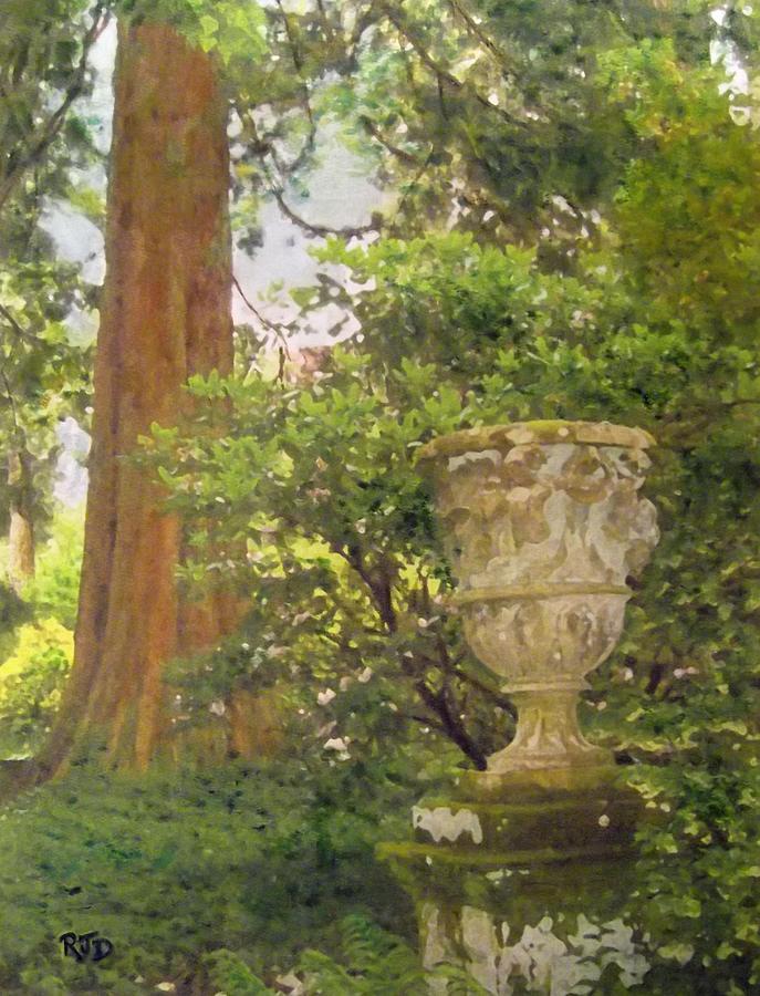 Tranquil Corner In Dawyck Botanic Garden Painting
