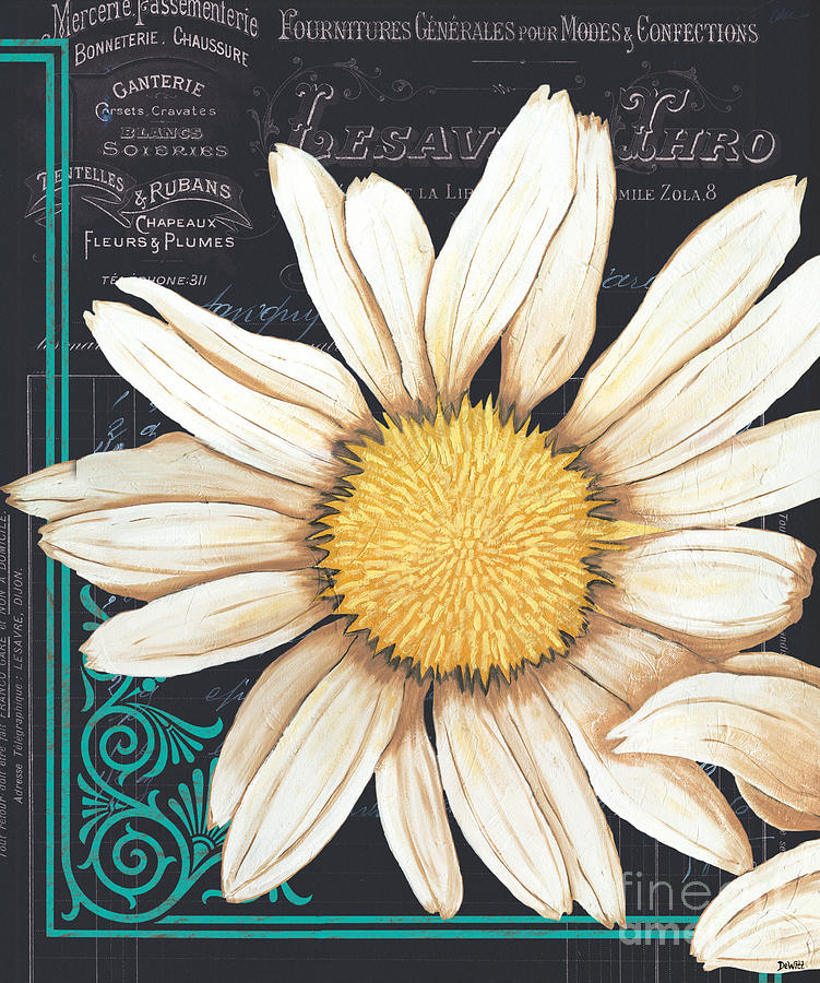 Daisy Painting - Tranquil Daisy 2 by Debbie DeWitt