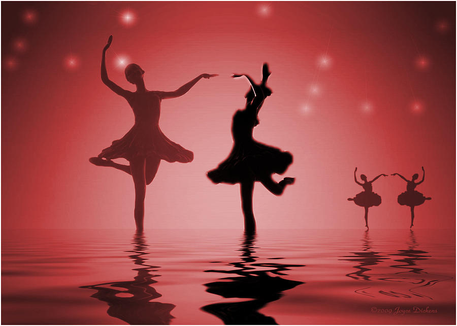 Ballerina Photograph - Tranquil Persuasion In Red by Joyce Dickens