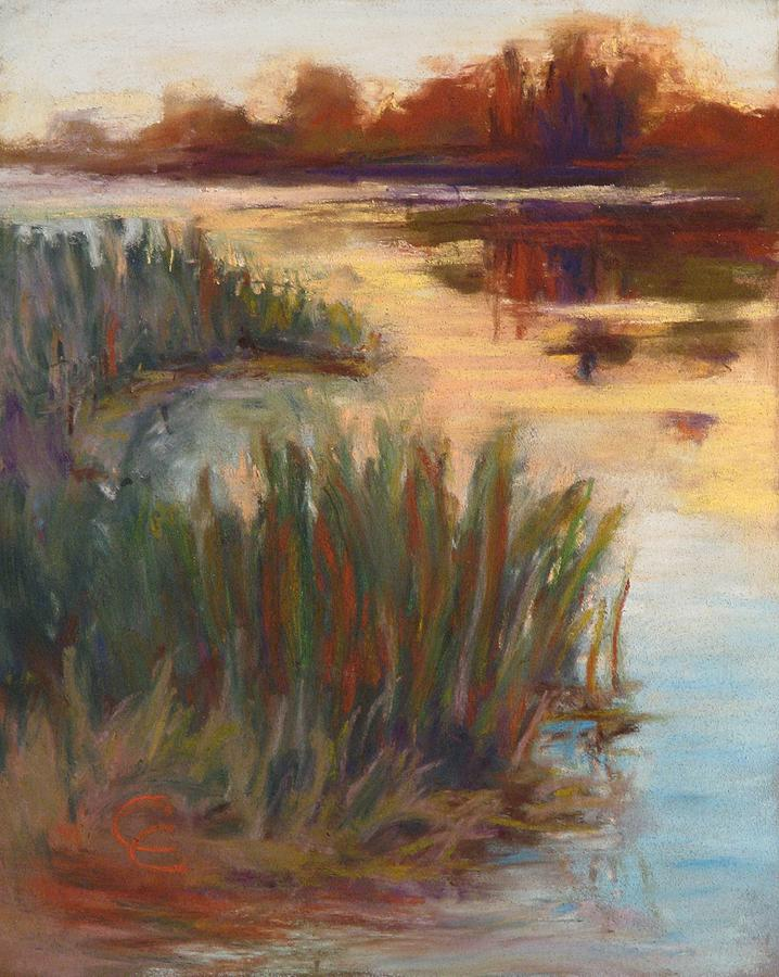 Landscape Painting - Tranquil waters by Cecelia Campbell