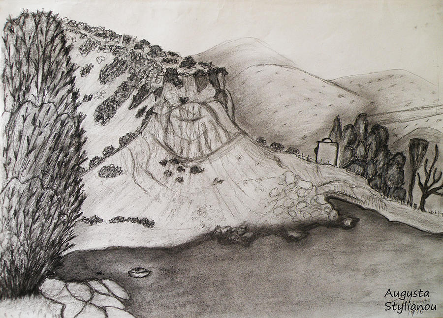 Tranquility Drawing - Tranquility by Augusta Stylianou