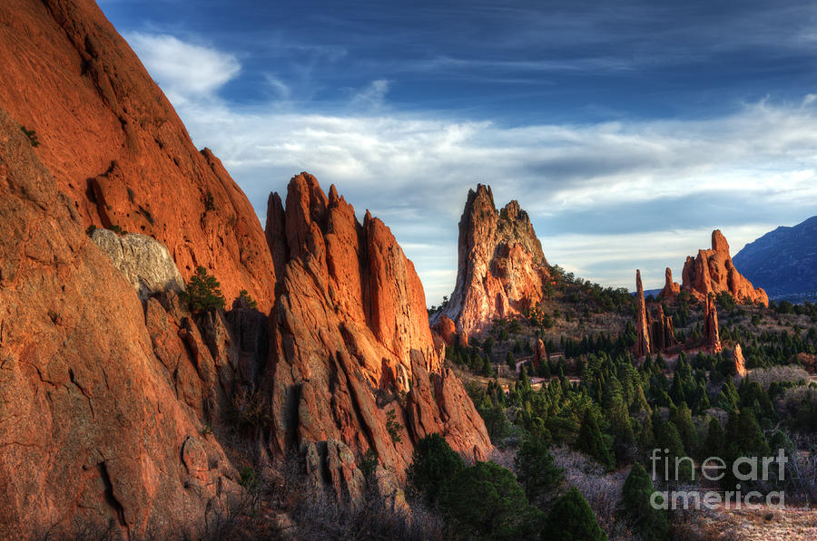Tranquility in the garden of the gods photograph by bob christopher for Quality inn garden of the gods