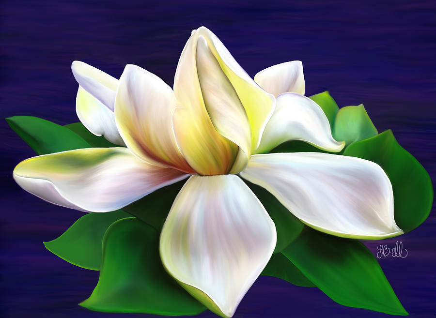 Gardenia Painting - Tranquility by Laura Bell