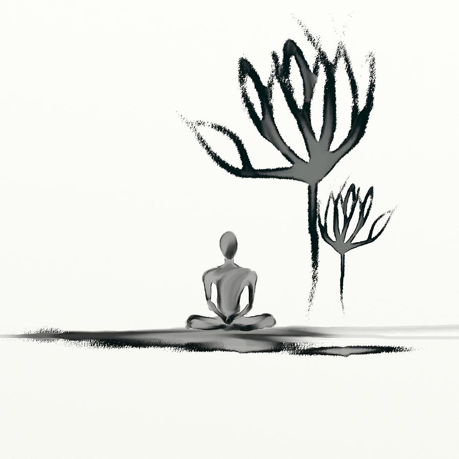 Meditation Painting - Tranquility by Len YewHeng