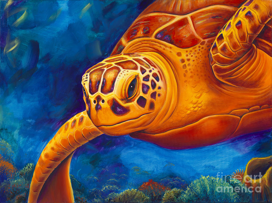 Underwater life painting images for Sea life paintings artists