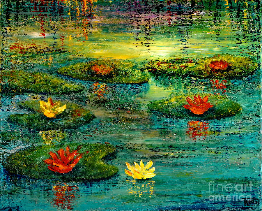 Waterscape Painting - Tranquility by Teresa Wegrzyn