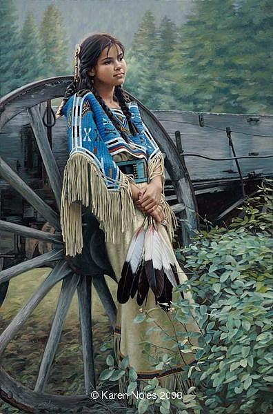 Karen Noles Digital Art - Tranquill Dreamer by Karen Noles