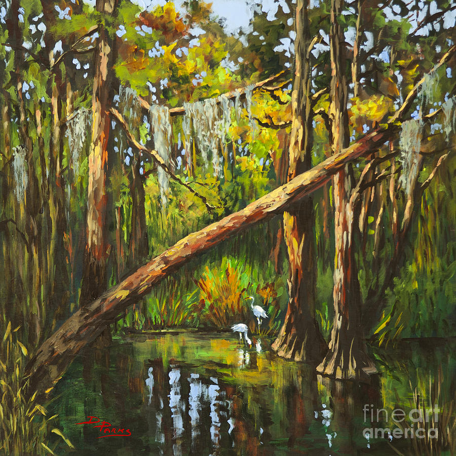 Acrylic Painting Swamp