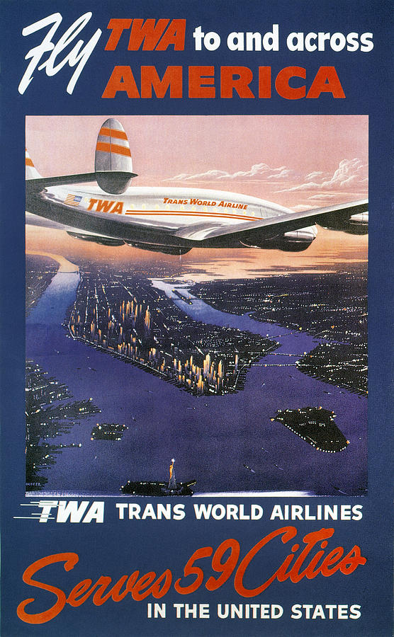 1950s Photograph - Trans-world Airlines 1950s by Granger