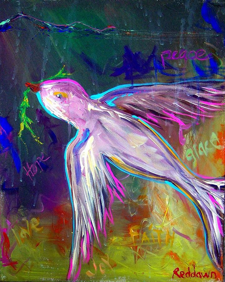 Jesus Painting - Transcending by Dawn Gray Moraga