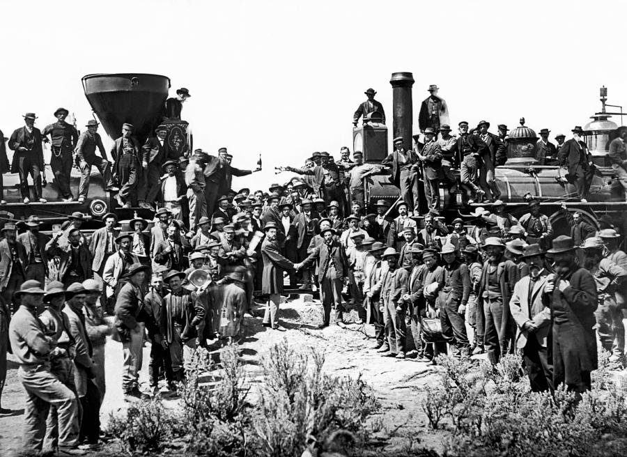 1800s Photograph - Transcontinental Railroad by Underwood Archives