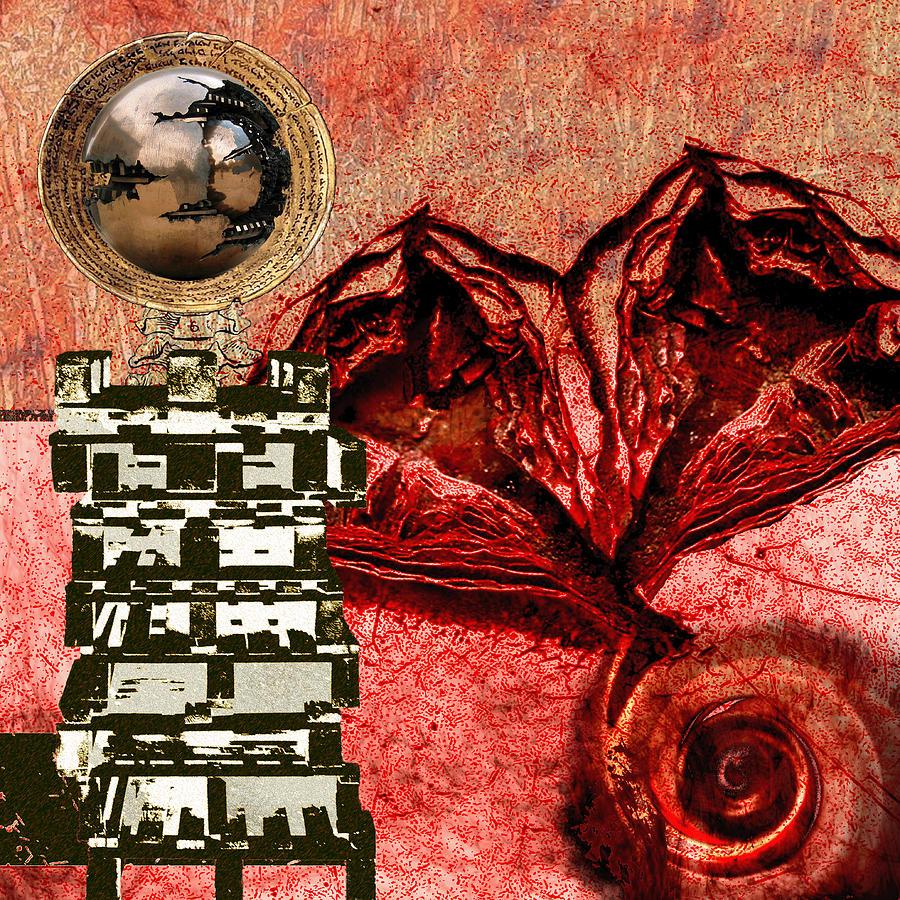 Heart Digital Art - Transfusion Into A Wooden Heart by Maria Jesus Hernandez