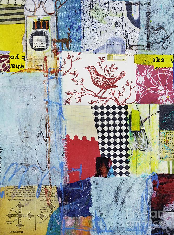 Collage Mixed Media - Transistor Harmony by Elena Nosyreva