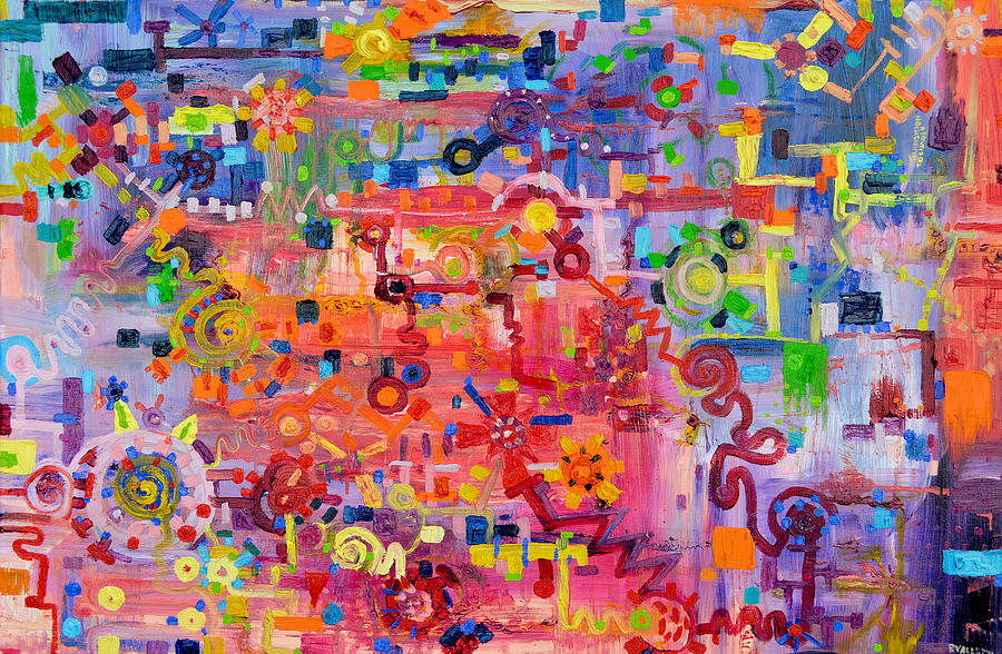 Chaos Painting - Transition To Chaos by Regina Valluzzi