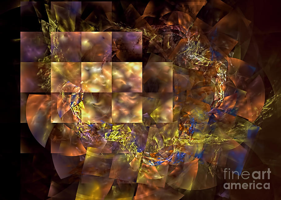 Abstract Digital Art - Translucence by Olga Hamilton