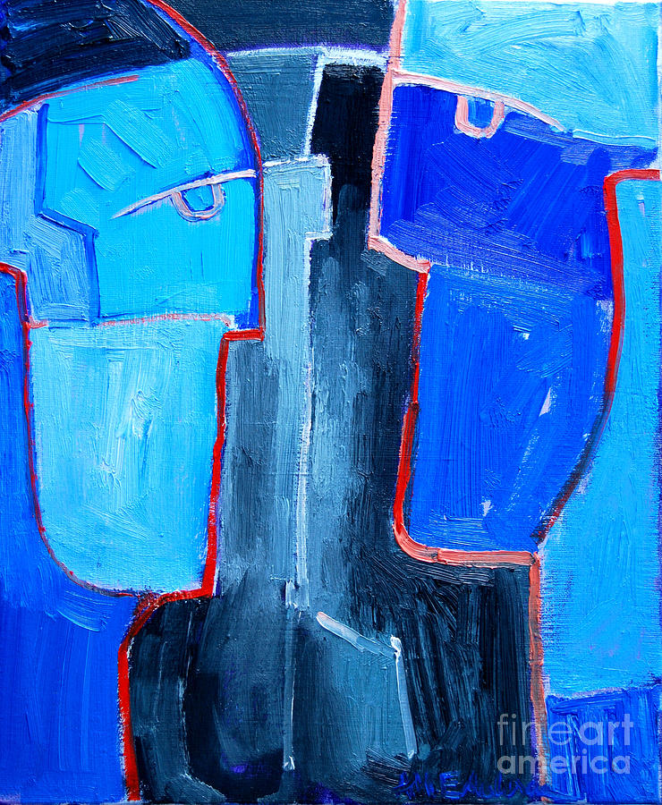 Abstract Painting - Translucent Togetherness by Ana Maria Edulescu