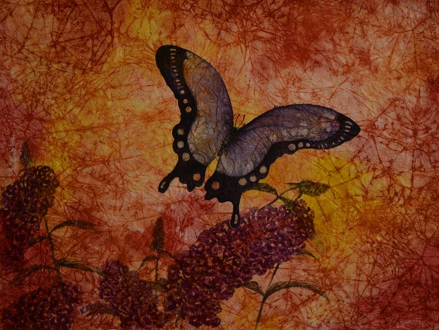 Butterfly Painting - Transparent by Kathleen Keller