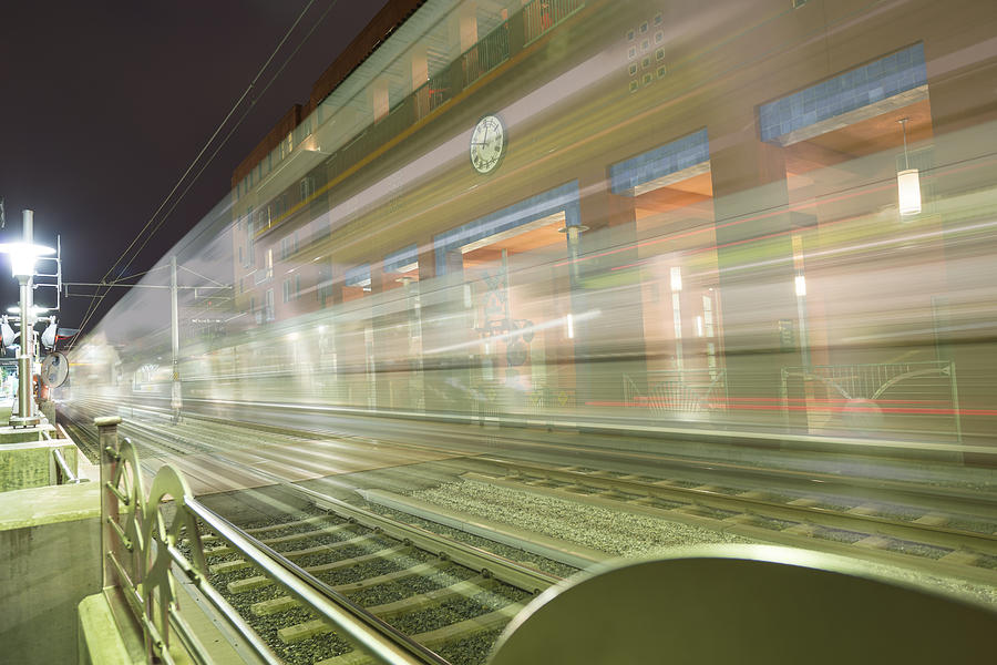 Pasadena Photograph - Transparent Trains by Mike Herdering