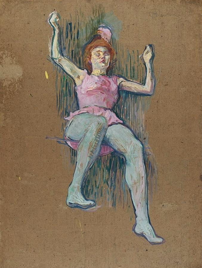 Trapeze Artist At The Medrano Circus Painting By Toulouse