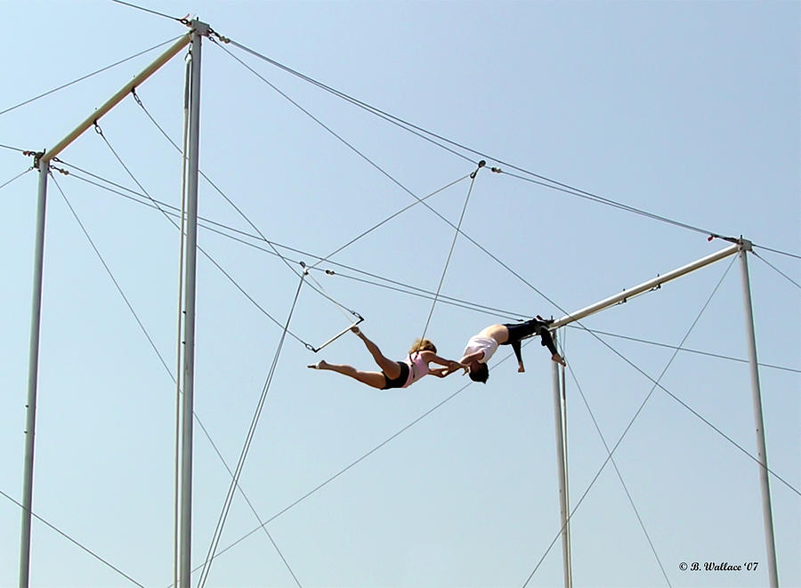 2d Photograph - Trapeze School by Brian Wallace