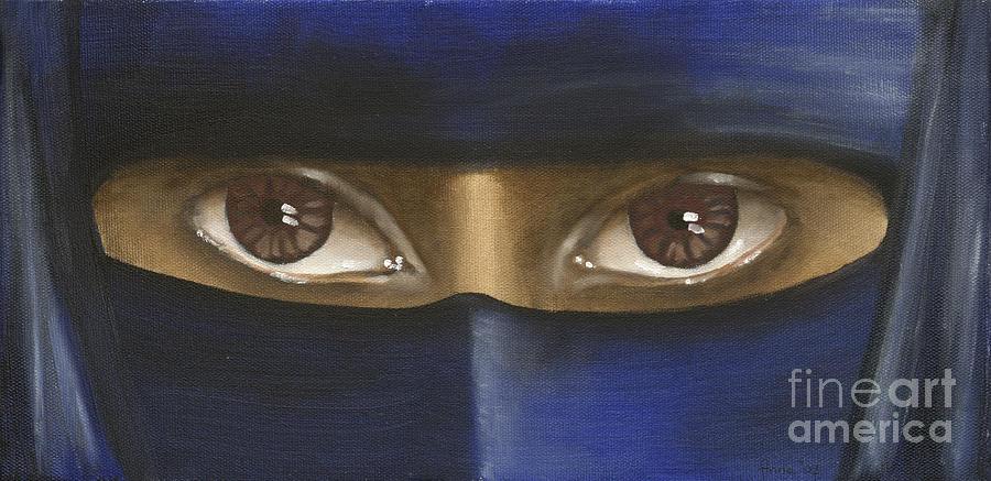 Woman Painting - Trapped by Annemeet Hasidi- van der Leij