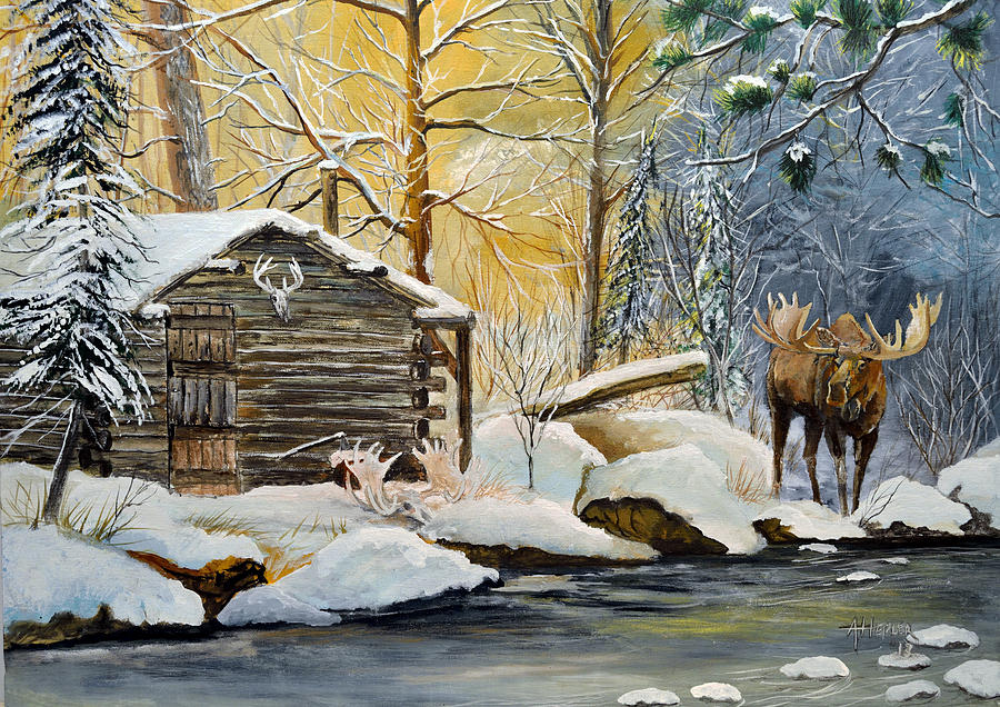 Cabin Painting Acrylic