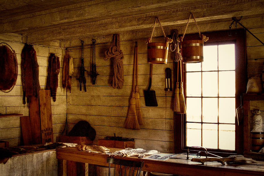 Fort Nisqually Photograph - Trapper Supplies At The General Store by David Patterson