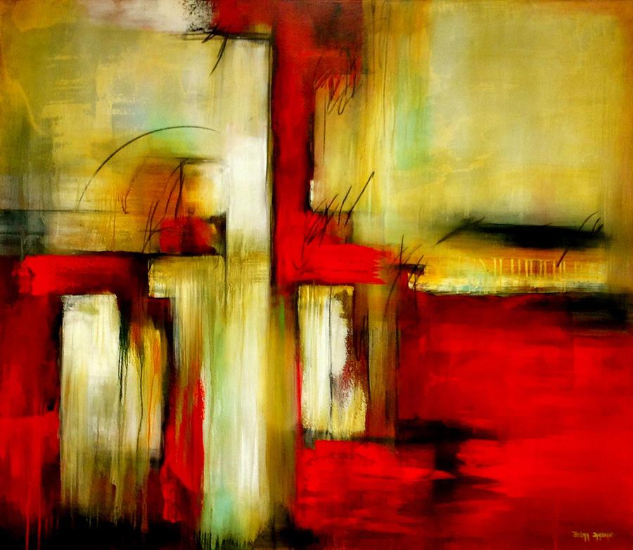 Abstract Painting - Traspasando by Thelma Zambrano