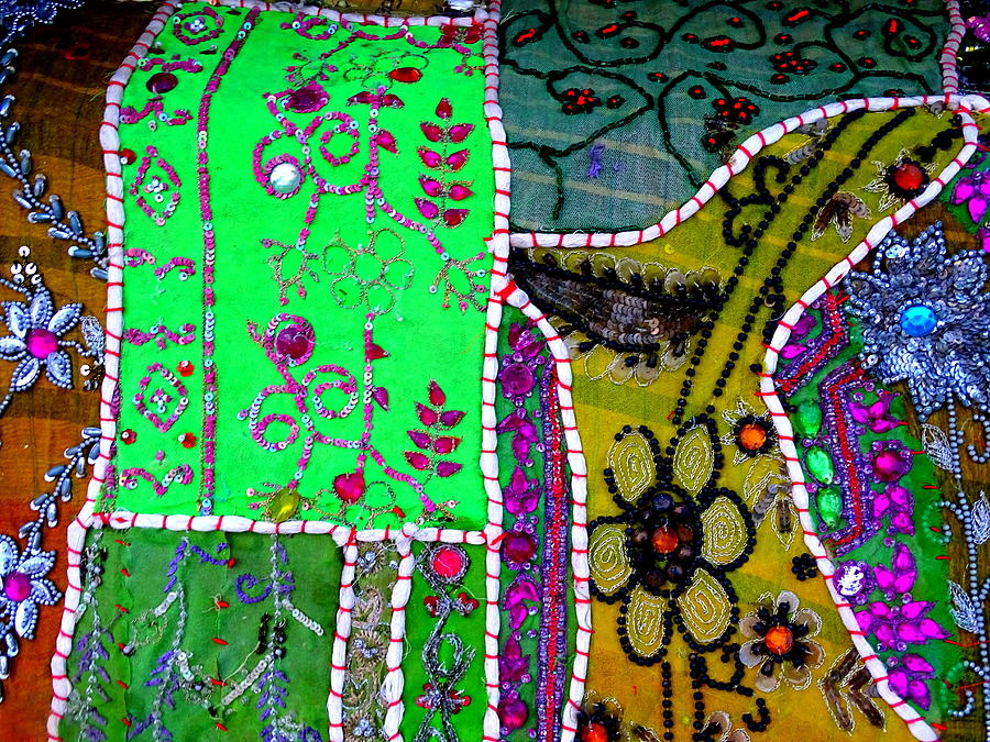 2047c8291283 Travel Photograph - Travel Shopping Colorful Tapestry Series 16 India  Rajasthan by Sue Jacobi
