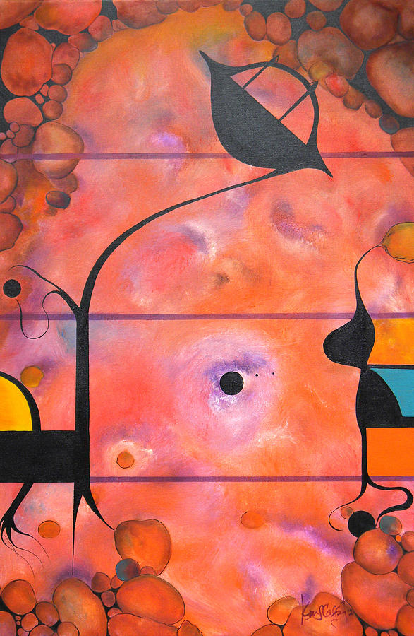 Abstract Painting - Traveler by Ken Caffey