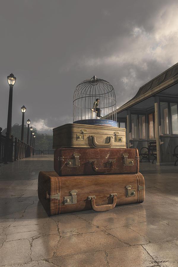 Travel Digital Art - Traveling by Cynthia Decker