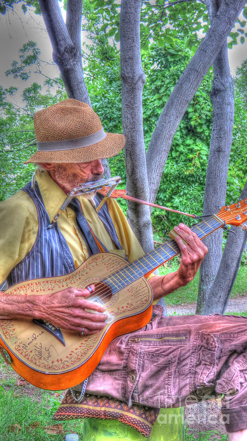 Blues Photograph - Traveling Troubadour by Putterhug  Studio