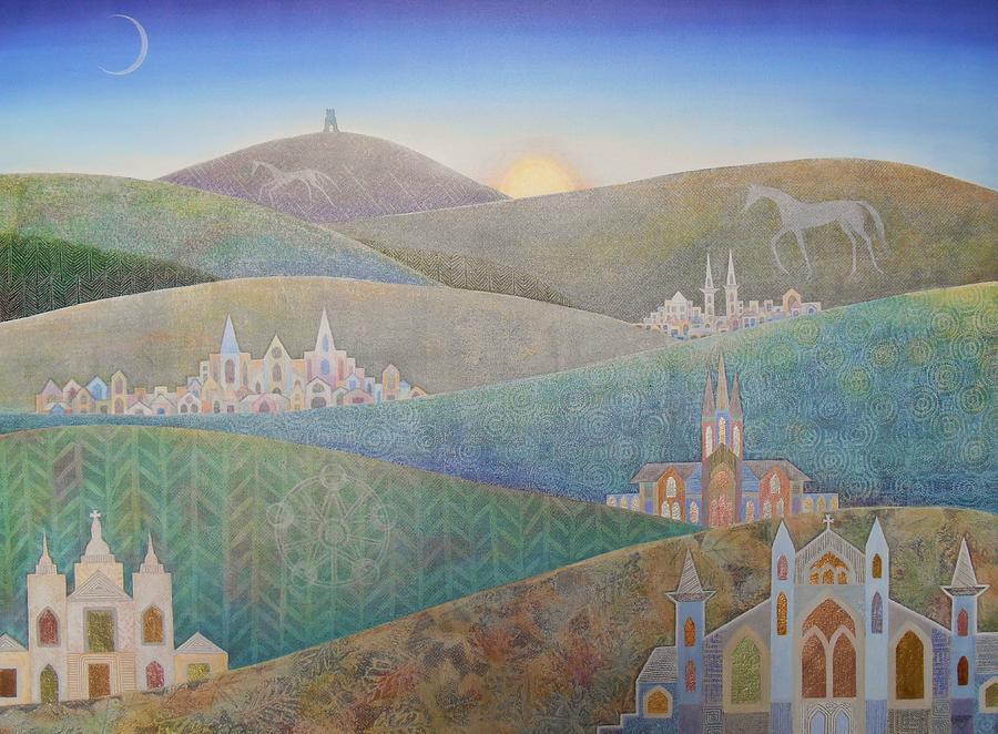 Landscape Painting - Travelling South Westward by Jennifer Baird