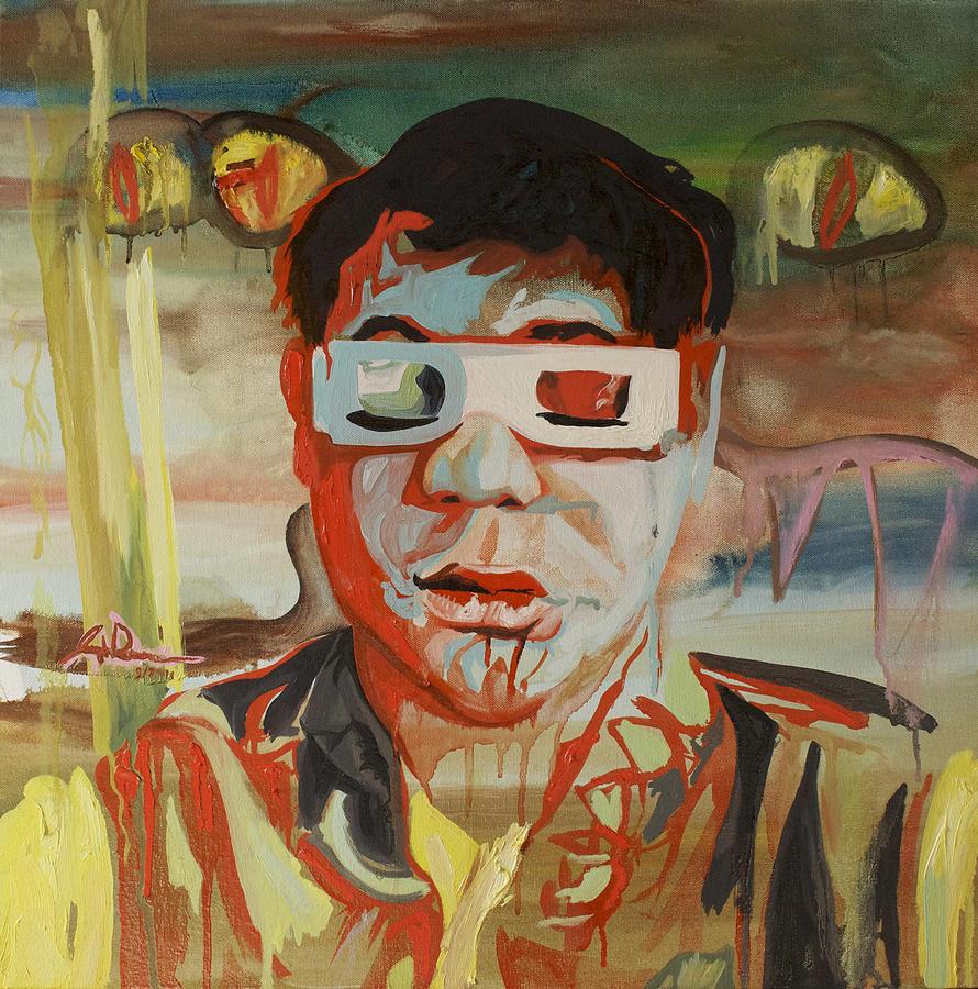 Surreal Painting - Travis D. Wiggins by Joseph Demaree