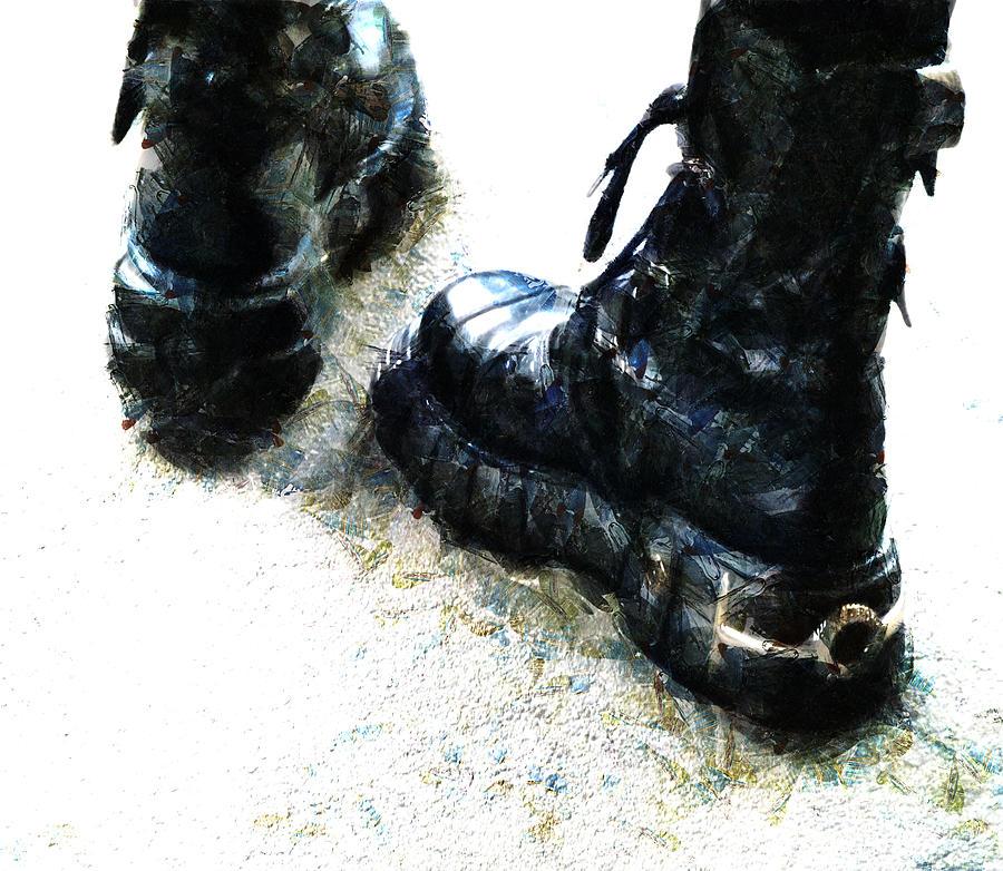 Boots Photograph - Tread Carefully  by Steve Taylor