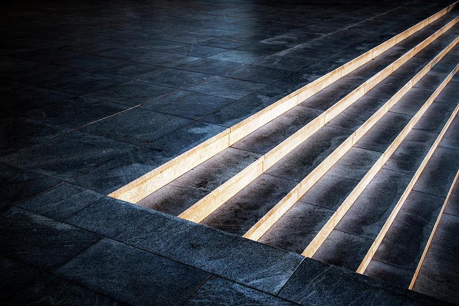 Steps Photograph - Tread Lightly by Linda Wride