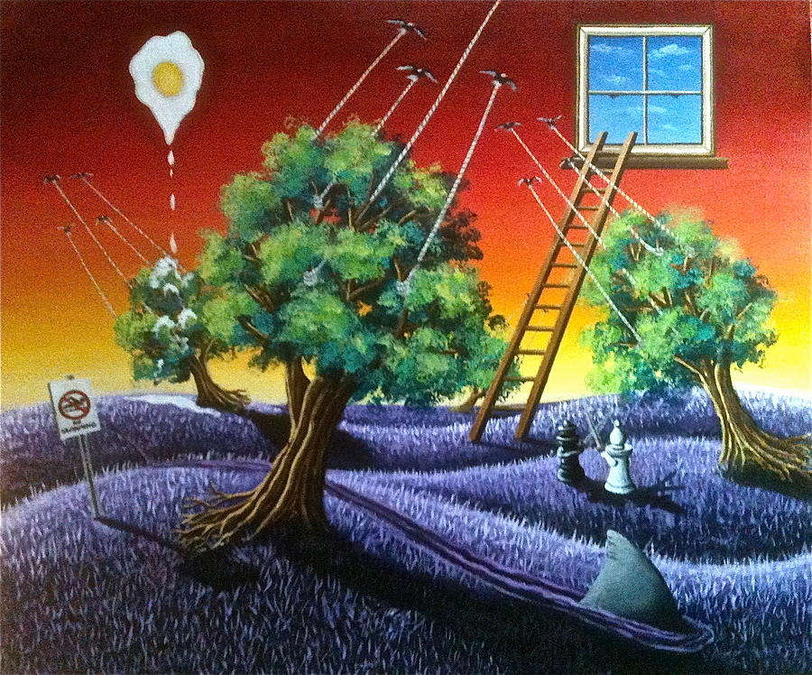 Surreal-landscape Painting - Tread Lightly by Tim Eickmeier