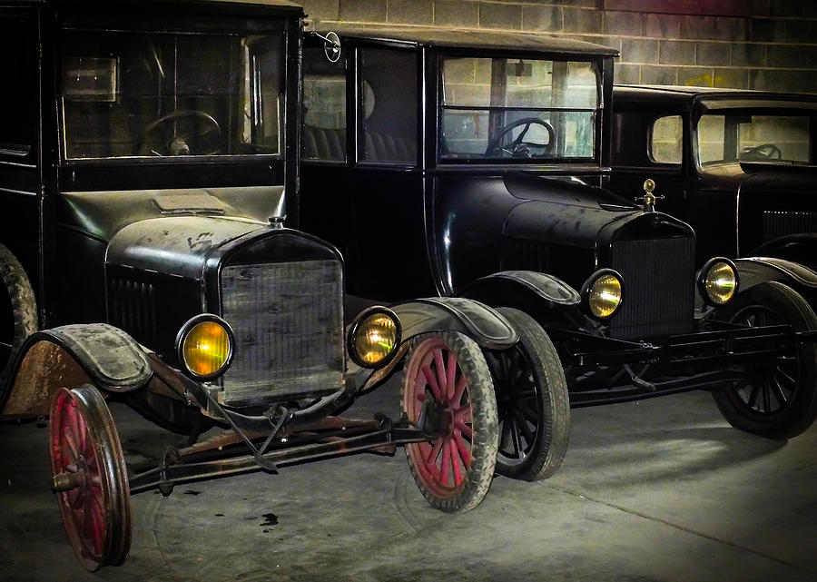 Antique Cars Photograph - Treads Of Time by Karen Wiles