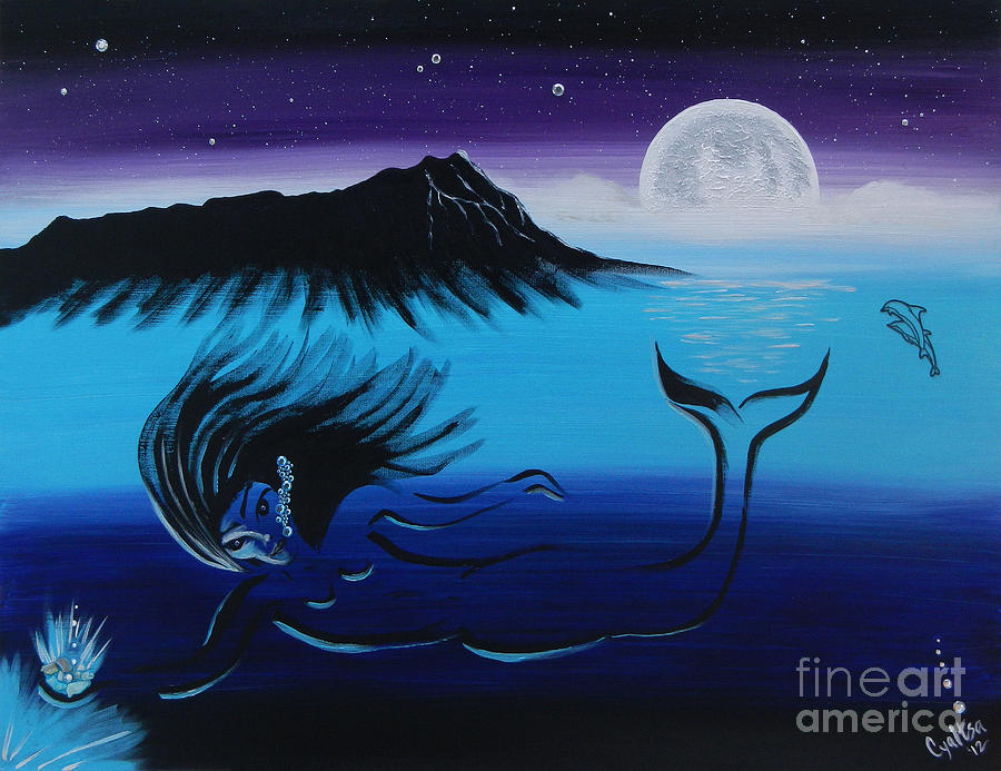 Mermaid Painting - Treasure Her by A Cyaltsa Finkbonner