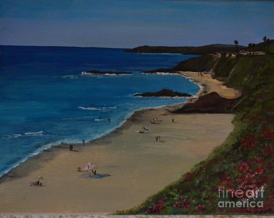 Laguna Beach Painting - Treasure Island Laguna Beach by Valarie Pacheco