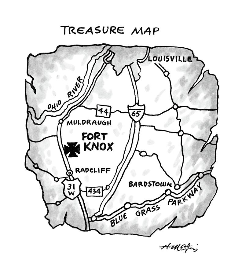 Treasure Map Drawing by Henry Martin