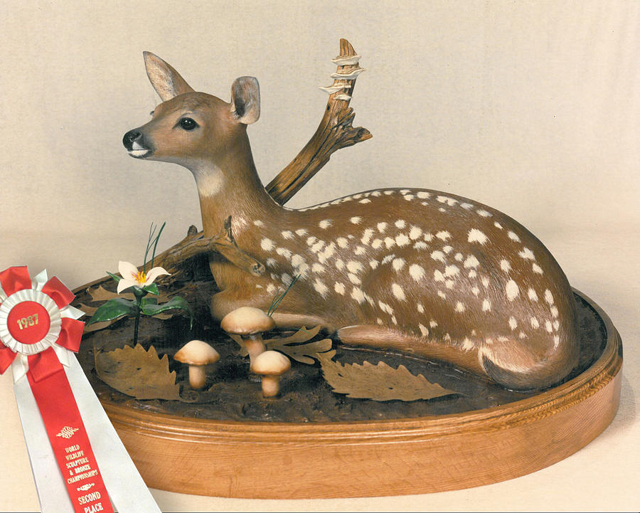 Fawn Sculpture - Treasures Of Spring by Kent L Gordon