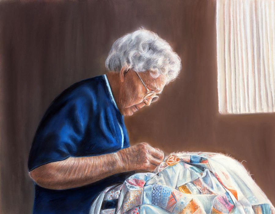 Sewing Pastel - Treasures Of Time by Karen Cade
