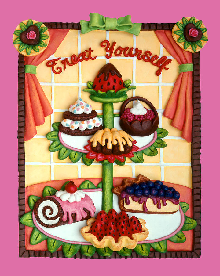 Food Mixed Media - Treat Yourself by Amy Vangsgard
